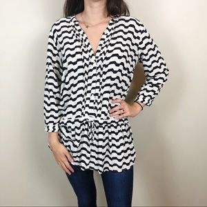 Anthro Isabella Sinclaire Drawstring Tunic Top